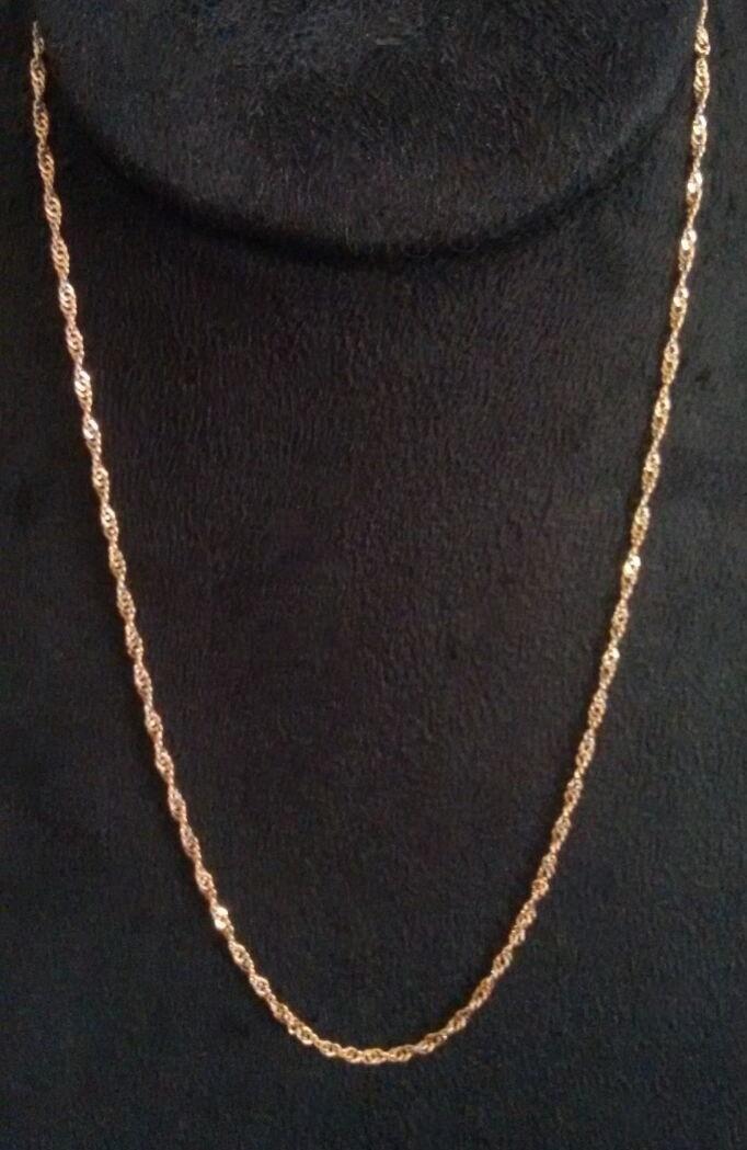 62ffc0d622277 Corrente Singapura Ouro Rose - Feminina - 45 cm - Folheada no Elo7 ...