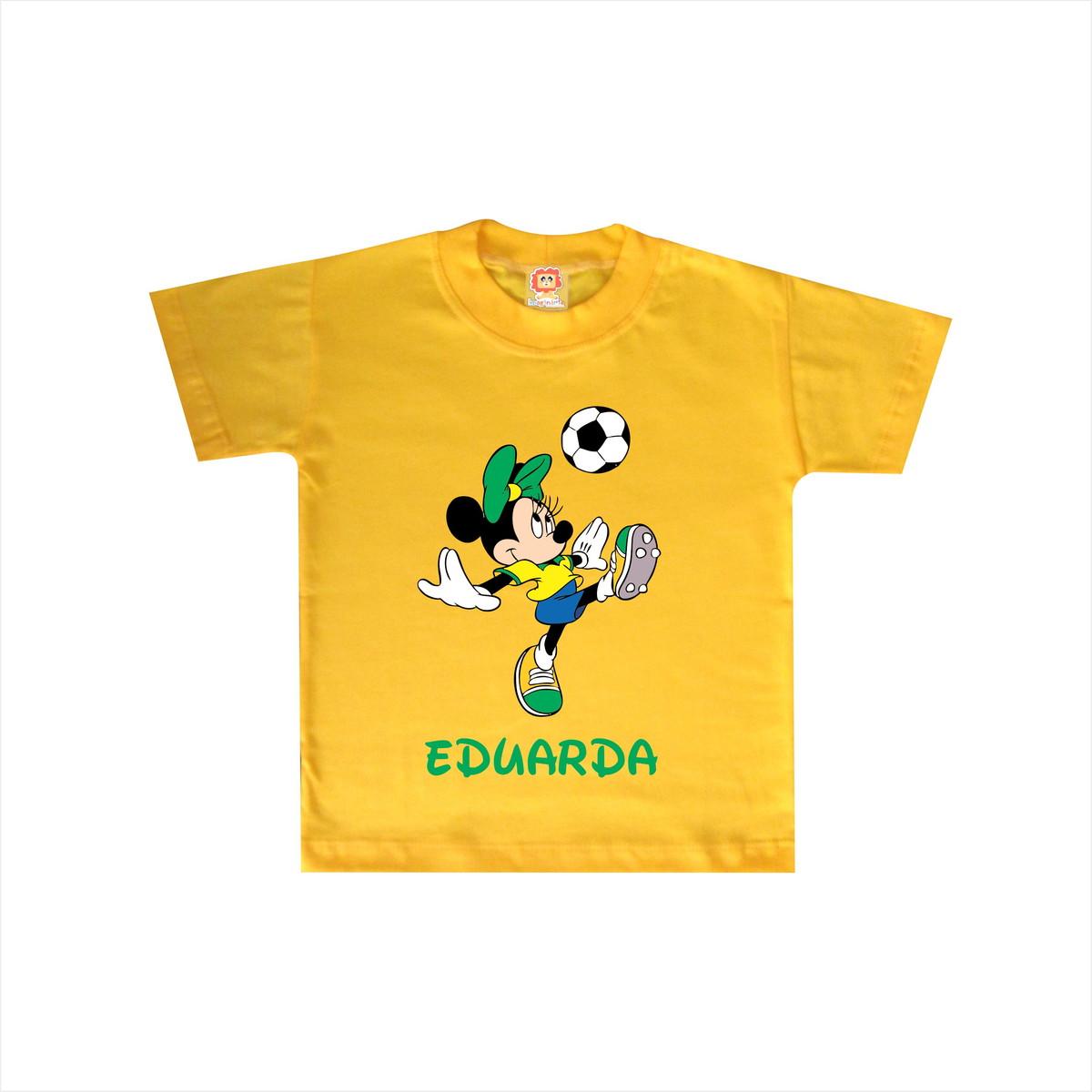 Body ou Camiseta Minnie Brasil Copa do Mundo no Elo7  0d7dfbf9c01ca