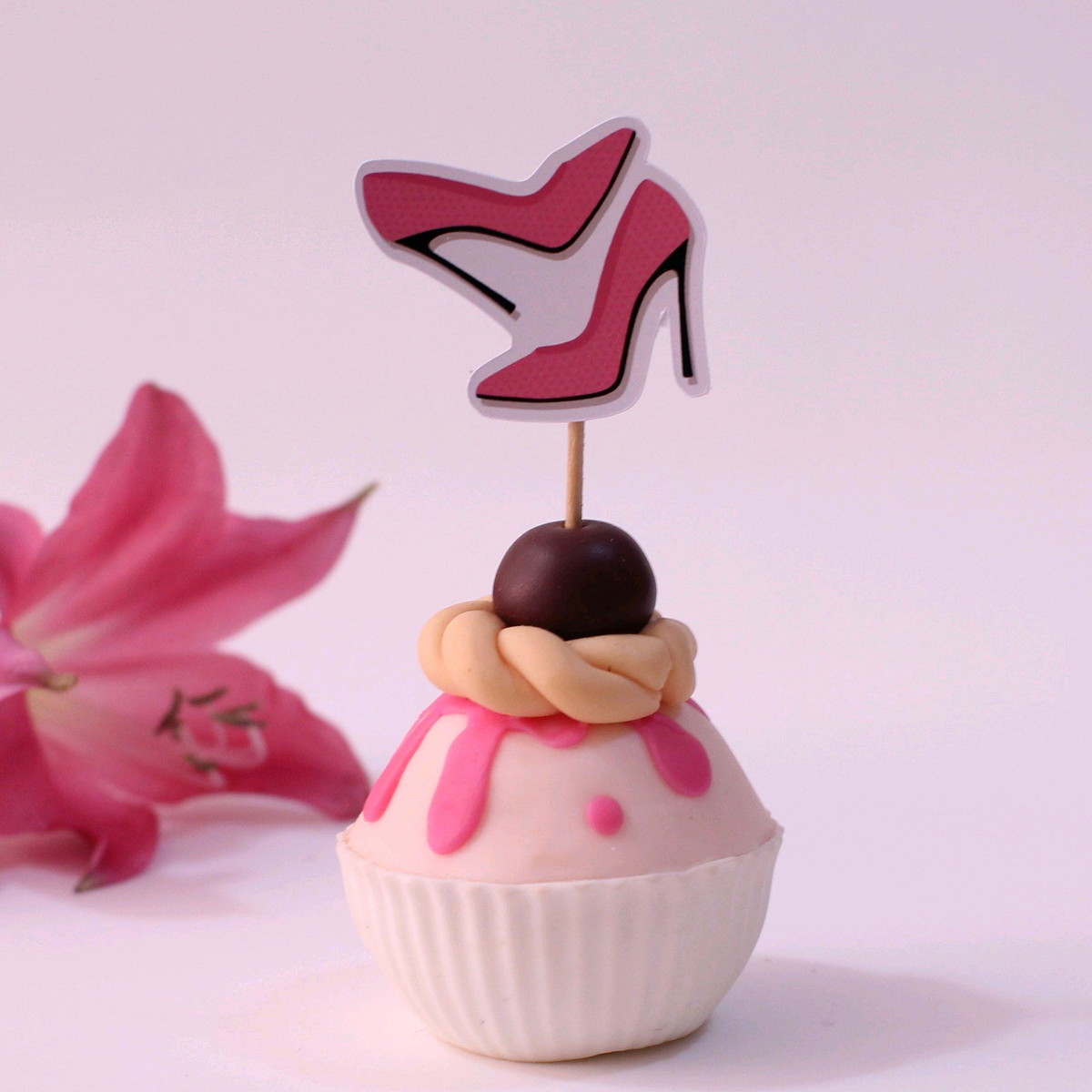 5f608a69d Topper para doces - moda - sapato salto alto no Elo7   A Carol que ...