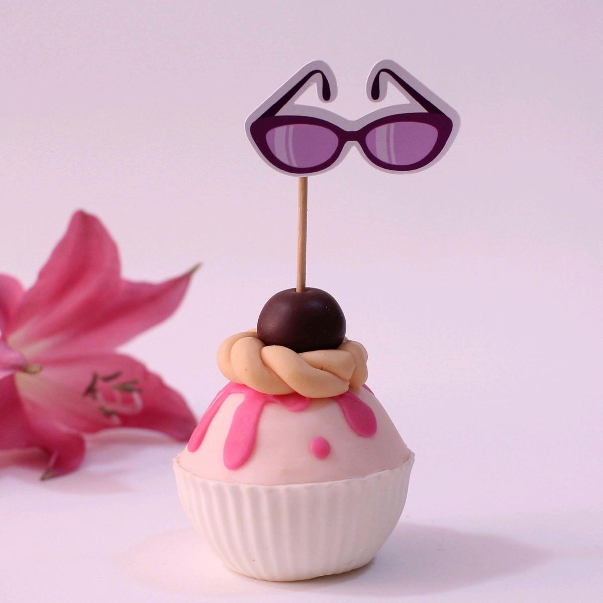 e50707c91efcd Topper para doces - moda - óculos de sol no Elo7   A Carol que fez ...