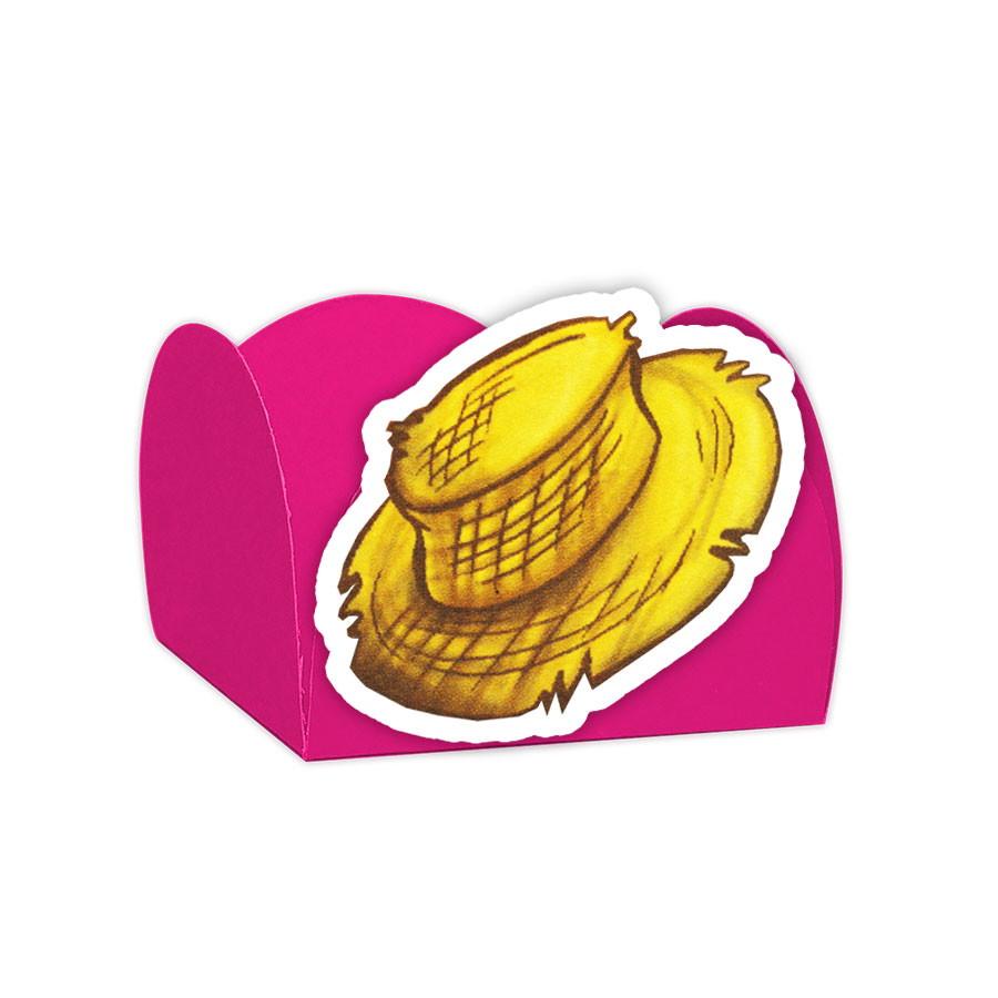 ef393ee924d46 Forminha Doces Chapéu Palha Festa Junina Rosa Pink - 24und no Elo7 ...