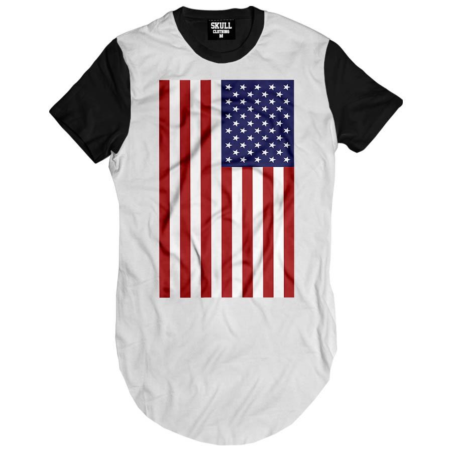0ad44264db Camiseta longline bandeira estados unidos eua swag masculina no Elo7 ...