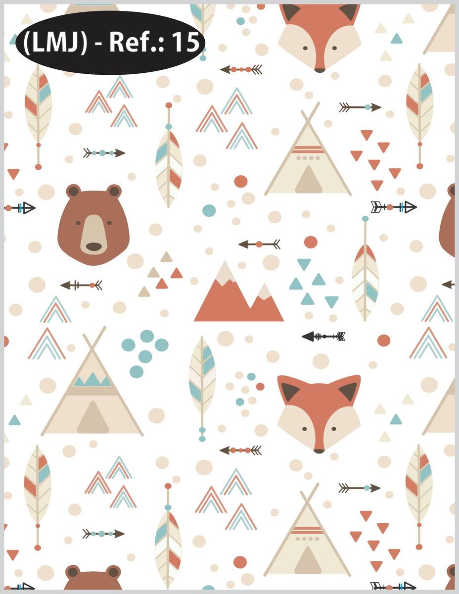 Papel de parede adesivo infantil urso e raposa no elo7 - Papel infantil para paredes ...