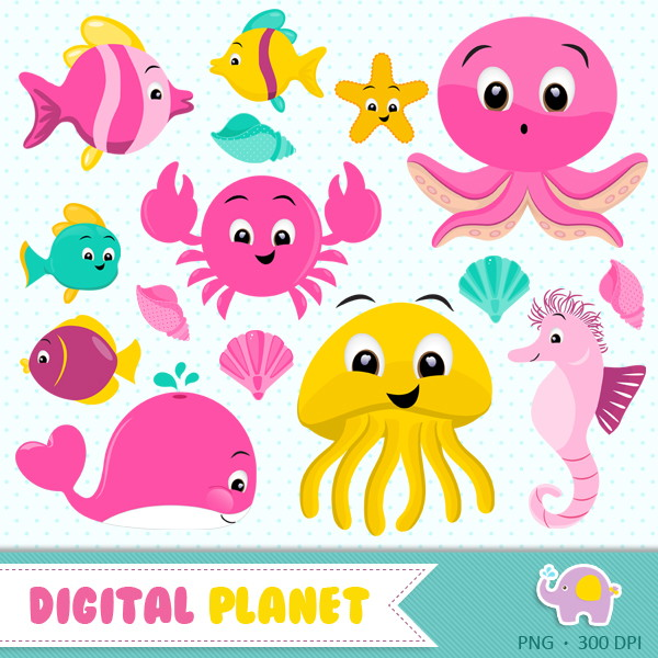 Kit Digital Fundo Do Mar 3