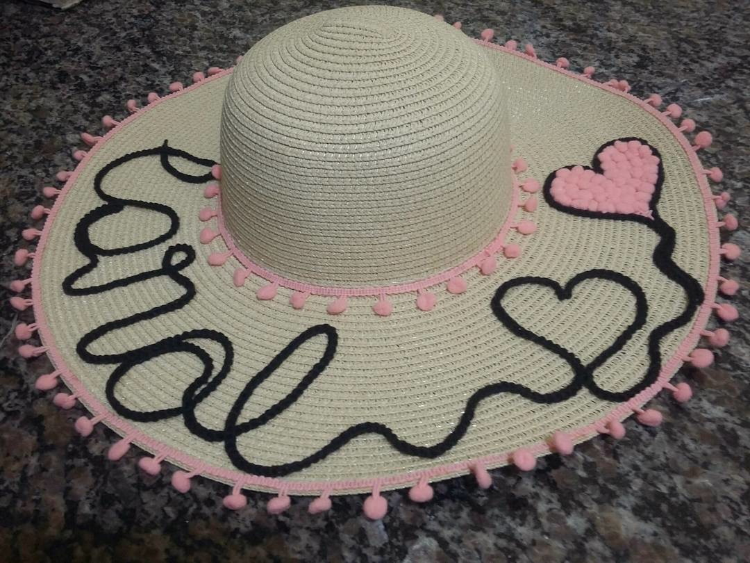 Chapéu de praia personalizado no Elo7  11d6d10e634