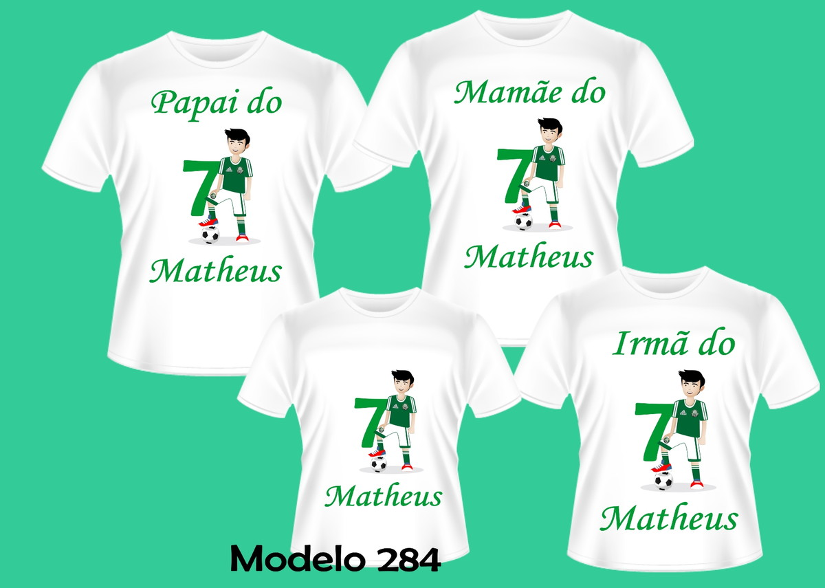 40e268c48ec32 KIT CAMISETAS PERSONALIZADAS TIME FUTEBOL C 4 no Elo7