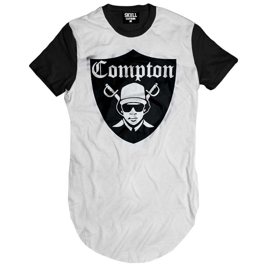17804abaa271c Camiseta masculina alongada Compton Eazy-e no Elo7