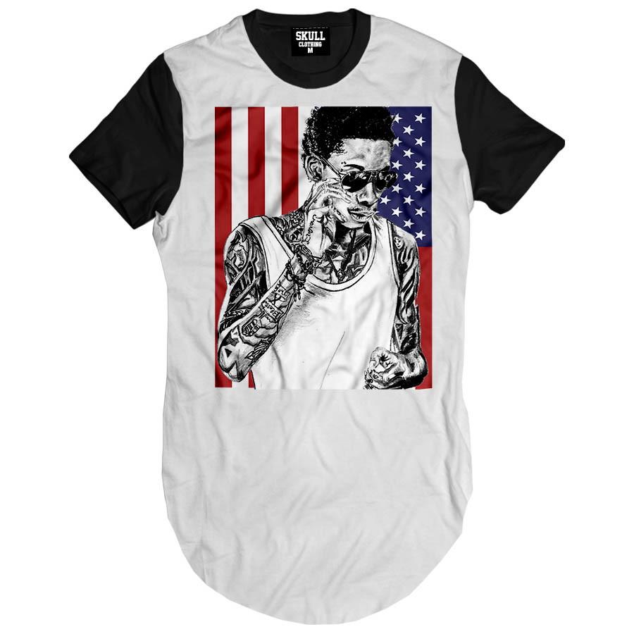 8cf9d20faa Camiseta longa wiz khalifa eu camisa masculina swag alongada no elo jpg  900x900 Swag camisetas masculina