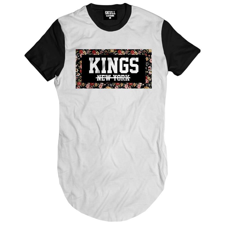 c41ae71c2b Camiseta Longa Kings New York Hip Hop camisa masculina Swag no
