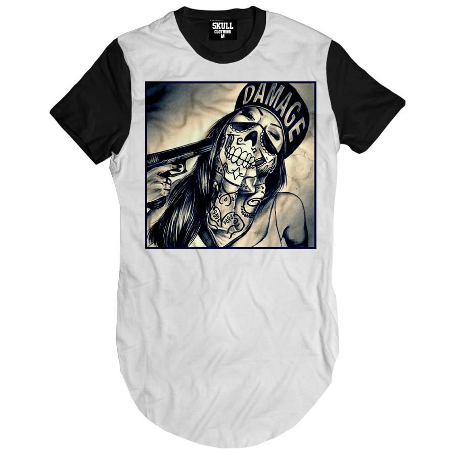 09d24472d3 Camiseta Longa masculina Thug Life Girl Camisa swag Hip Hop no Elo7 ...