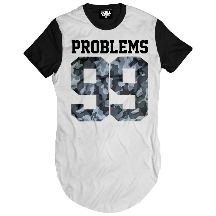 eb7fab8cc Camiseta longa Problems 99 Camisa swag masculina no Elo7