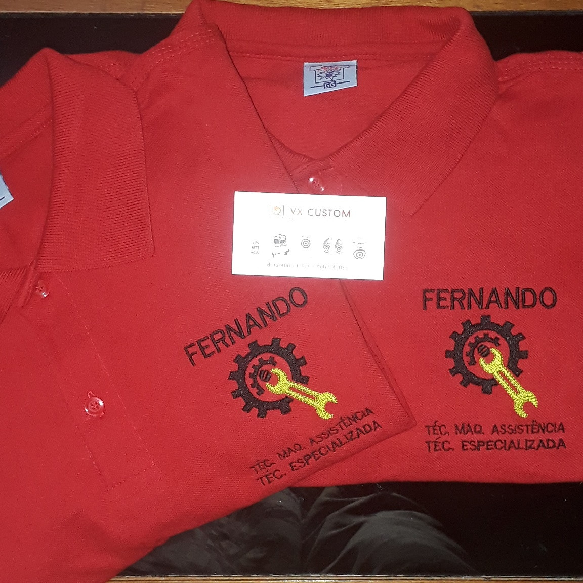 Uniformes Bordados Camiseta Pólo no Elo7  273ecb2b057d8
