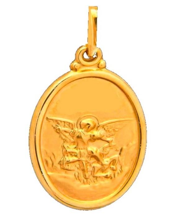 Medalha São Miguel Arcanjp Ouro 18 K R25-0001,2-756 no Elo7   Nelcy ... a98a547028