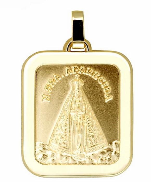 Medalha Nossa Senhora Aparecida Ouro 18 K R2500066r613 no Elo7 ... adf30b99ce