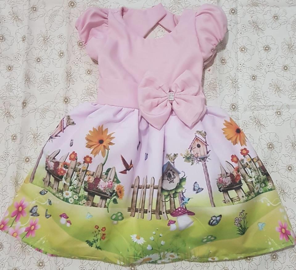 3322efc3c5 vestidos personalizados infantis de 0 à 3 anos no Elo7