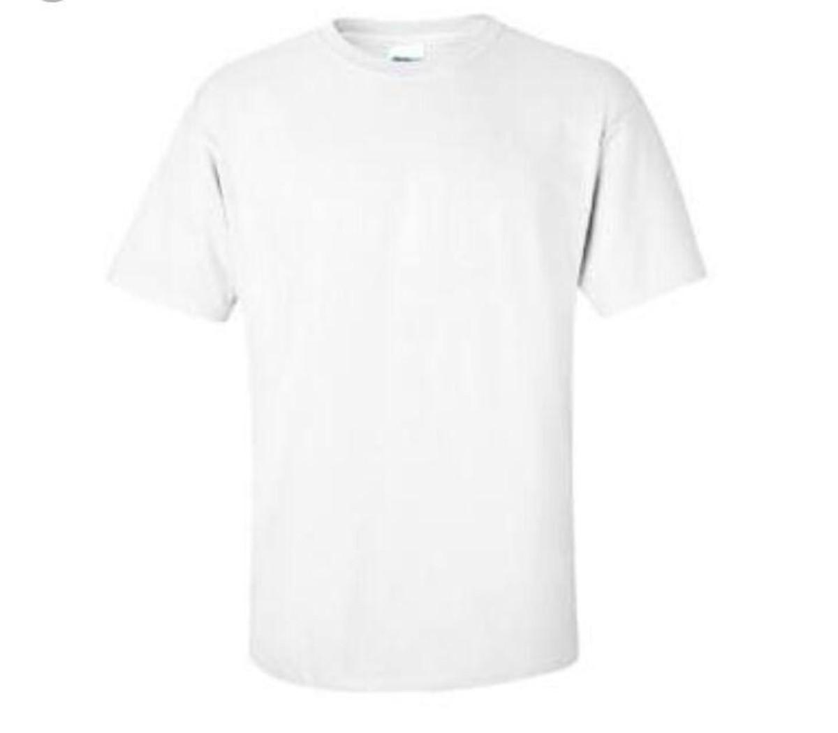 f75bad4c53 Camiseta branca vários modelos para a sua estampa. no Elo7