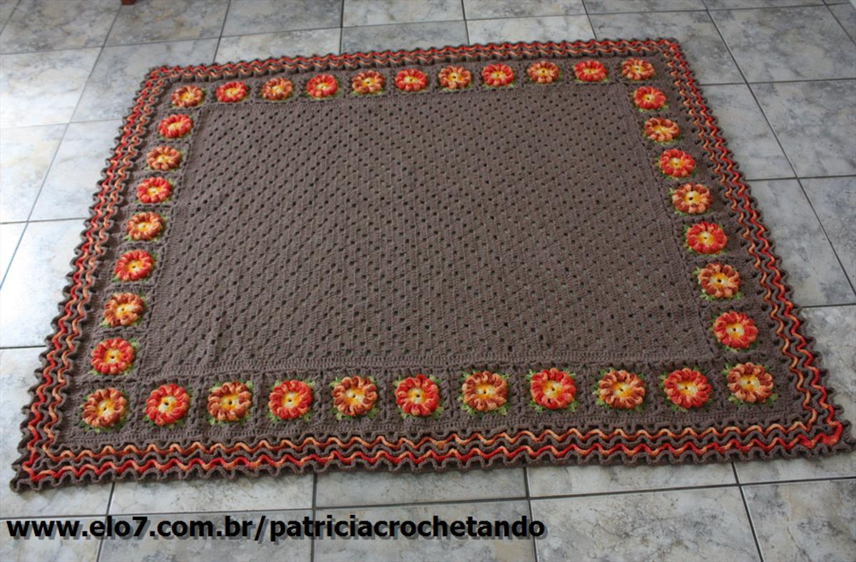 Tapete Para Sala No Elo7 Patricia Crochetando Beab3b  -> Tapetes De Croche Para Sala