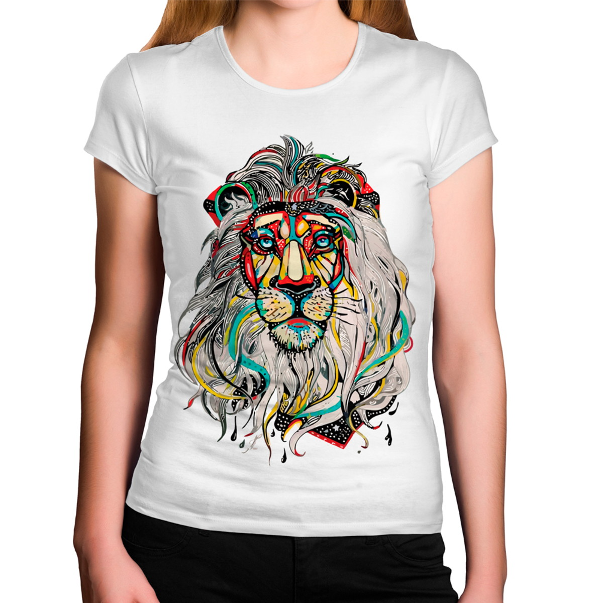 07a9b661a Camiseta Feminina Hippie Leão Colorido no Elo7 | Criatics (BECE99)