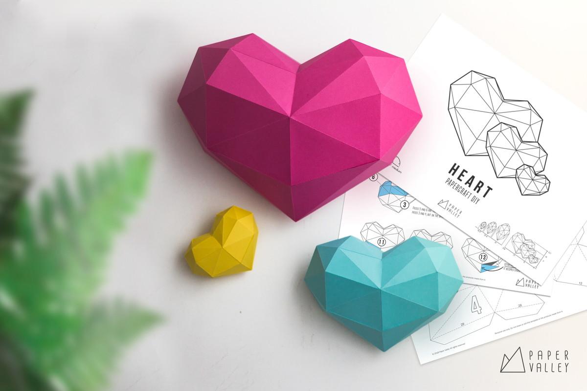 kit coração papercraft diy no elo7 paper valley studio bed955