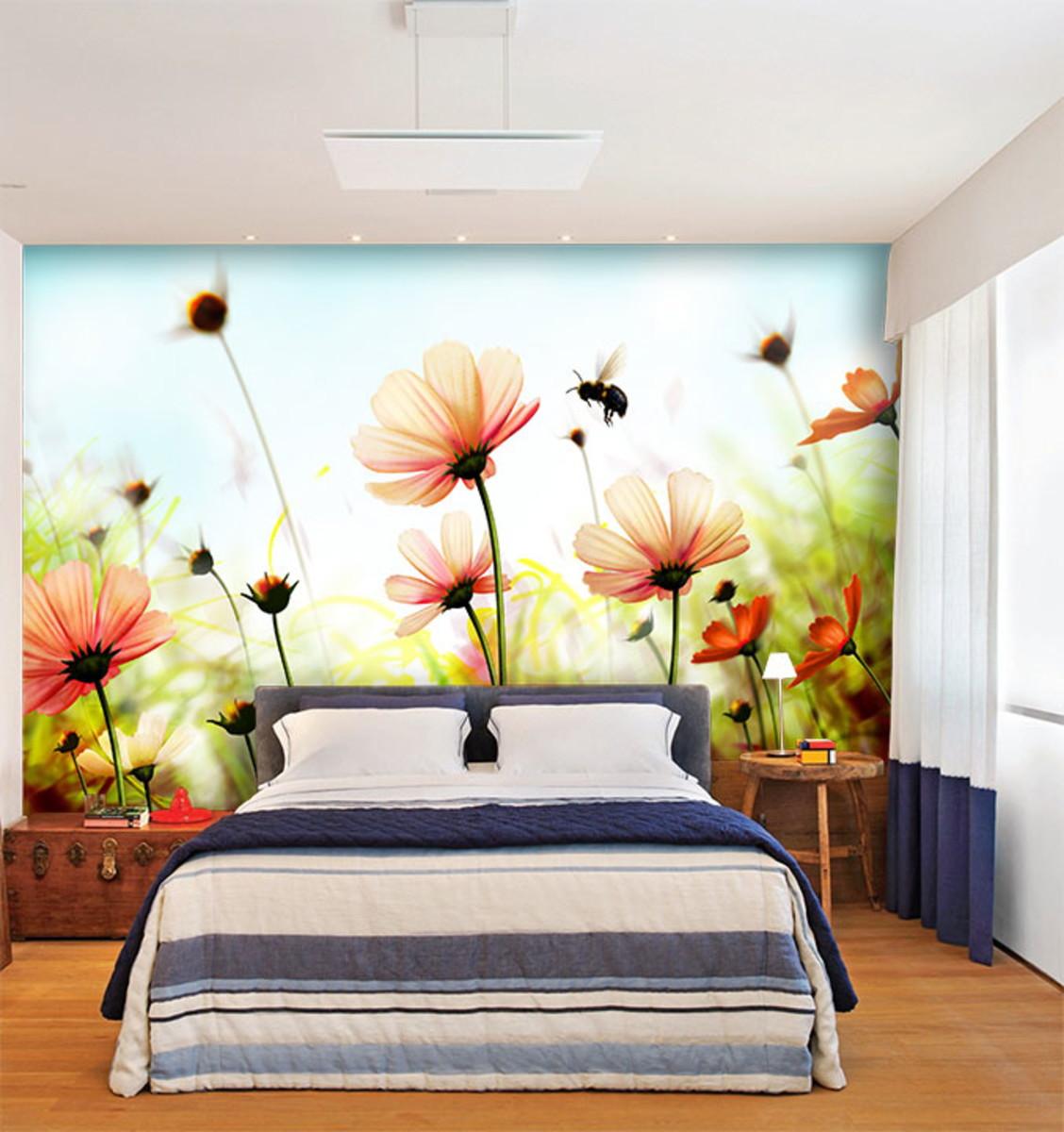 Papel de parede flores 0027 papel de parede 3d no elo7 - Papel adhesivo para paredes ...