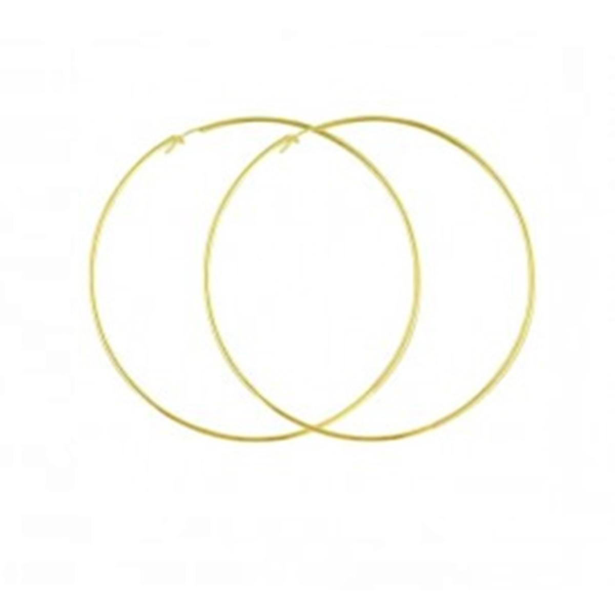 Brinco argola extra grande Folheado a ouro 18 k no Elo7   Águas ... 292ab3e50b