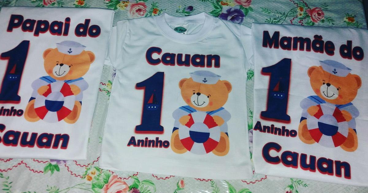 Camiseta ursinho marinheiro pai mae e filho no Elo7  e884b67ca3db4