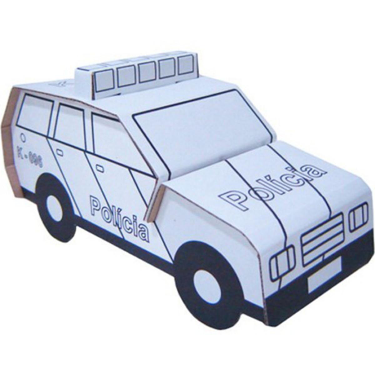 Kit De Papelão Carro De Polícia Kits For Kids No Elo7 Kits E
