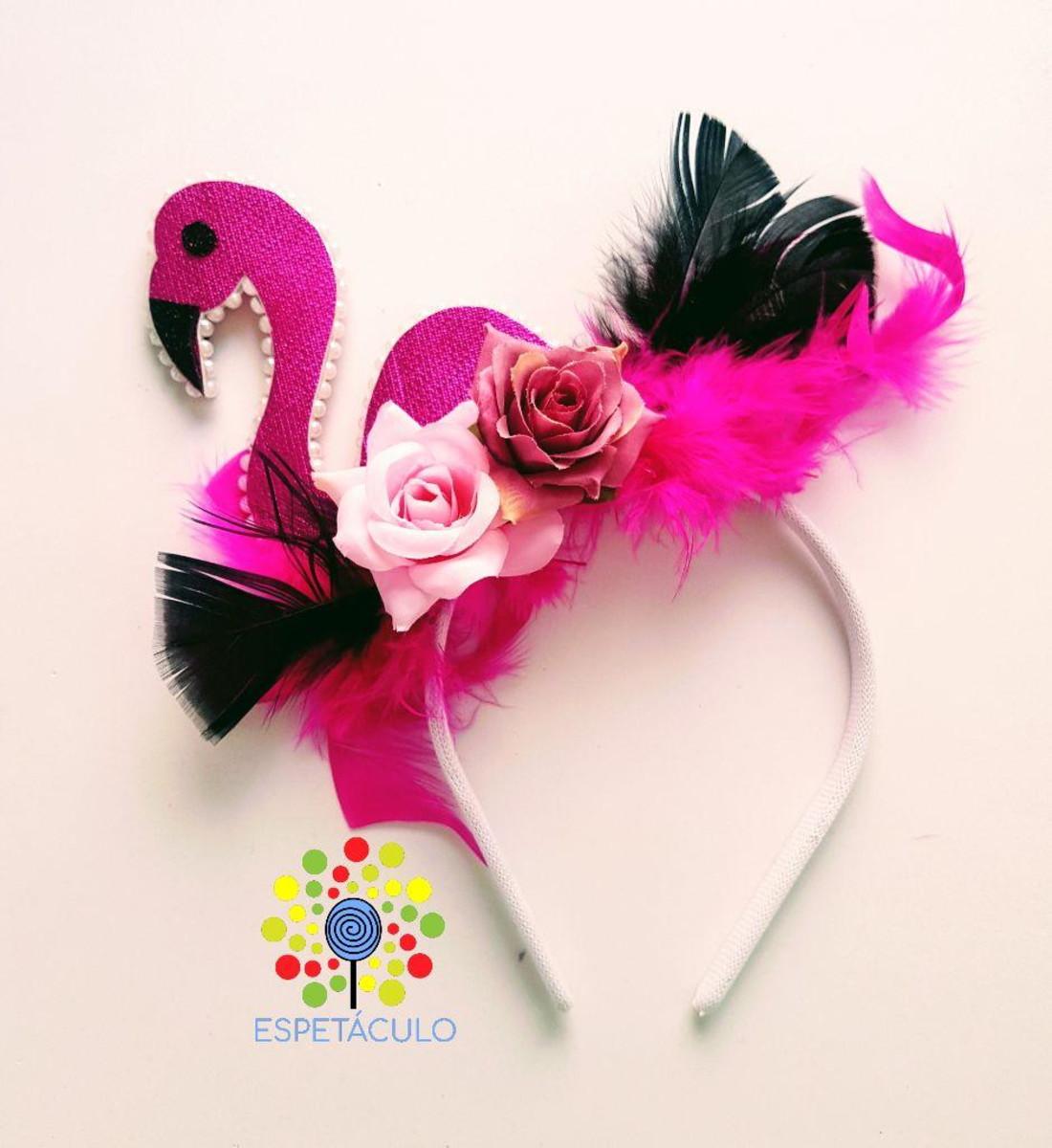 Tiara Flamingo Luxo No Elo7 Espetaculo Fantasias Bf04dc