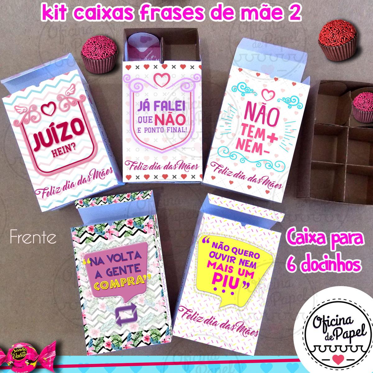 Kit 6 Caixas Frases De Mãe 2018 Arquivo De Corte No Elo7 G