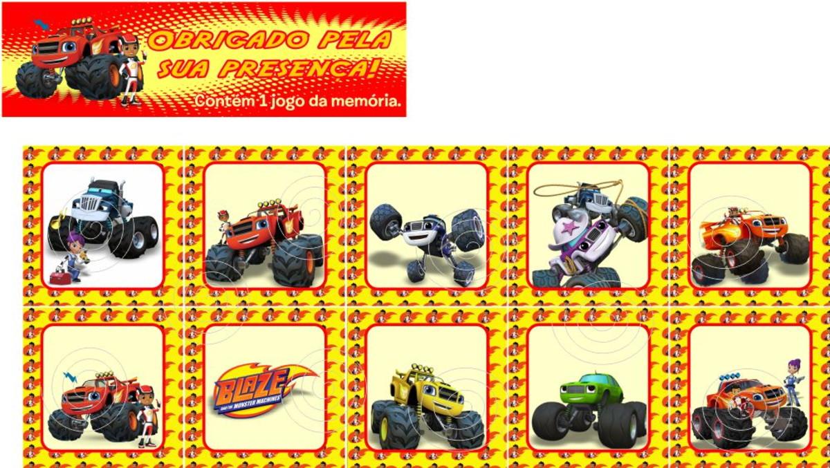 Blaze And The Monster Machines Jogo Da Memoria No Elo7 Marga