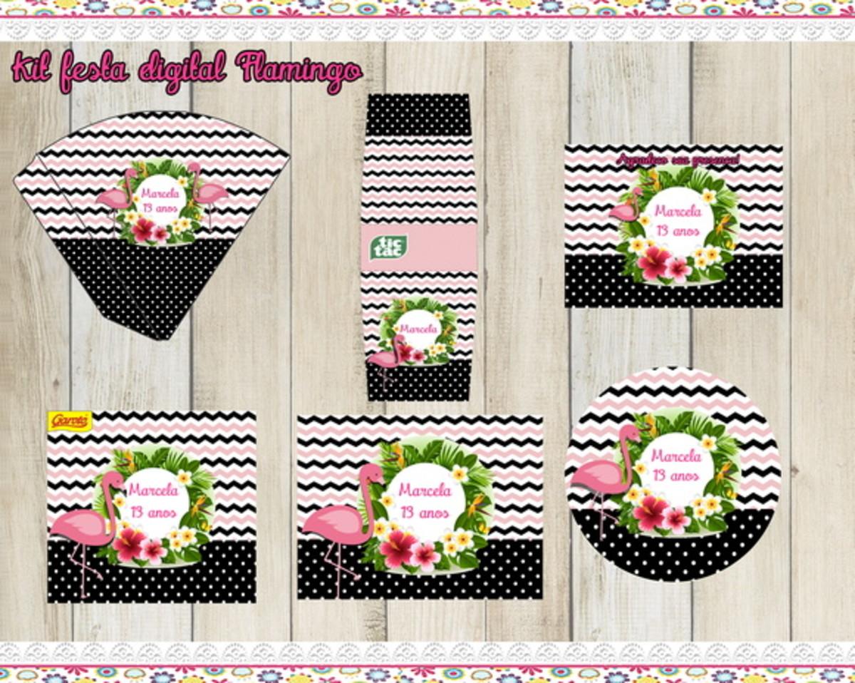 Kit Festa Digital Flamingo No Elo7 Atelie Bimbina Festas Bf1484