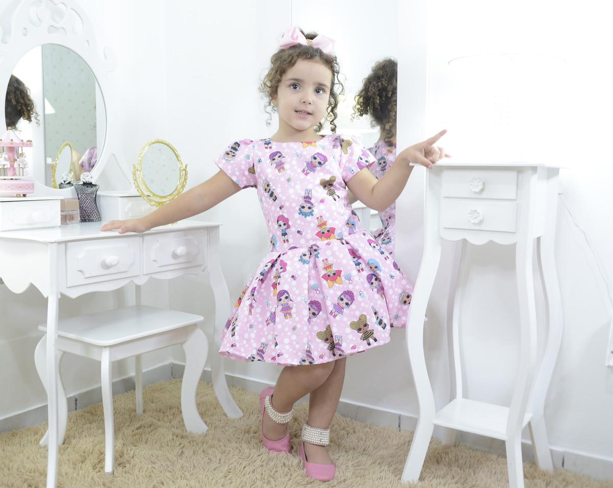 Vestido Infantil Festa Das Mínis Bonecas Lol Surprise - Smar No Elo7