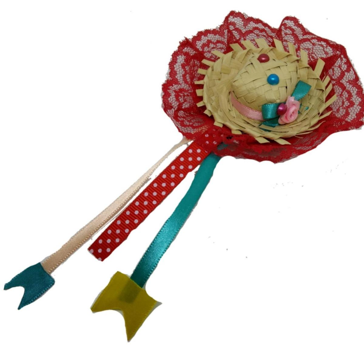 Mini Chapéu de palha Junino Infantil Pet Bebê Festa Junina no Elo7 ... deca3640b7d