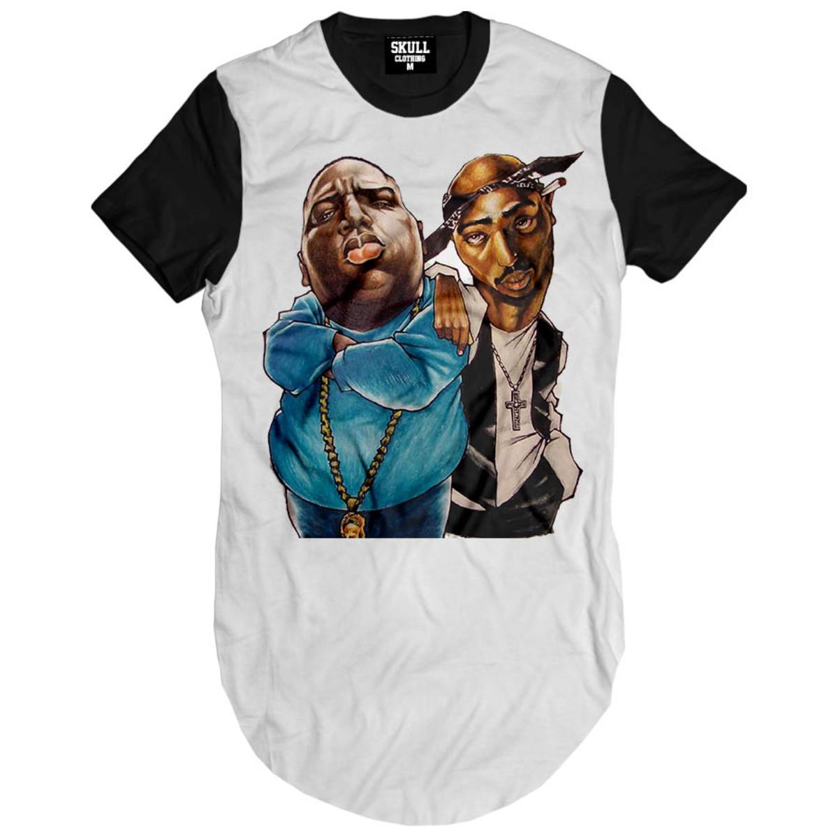 8ae46665ef Camiseta masculina long line Big e Tupac camisa swag no Elo7. Camiseta  masculina long. Camiseta Longa Kings 34 Hop ...