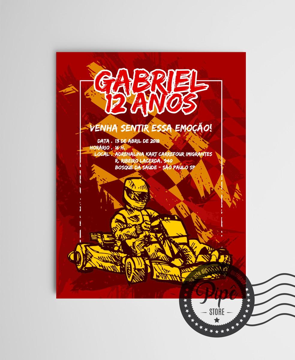 Convite Digital Kart No Elo7 Pipê Store Design Bf614e