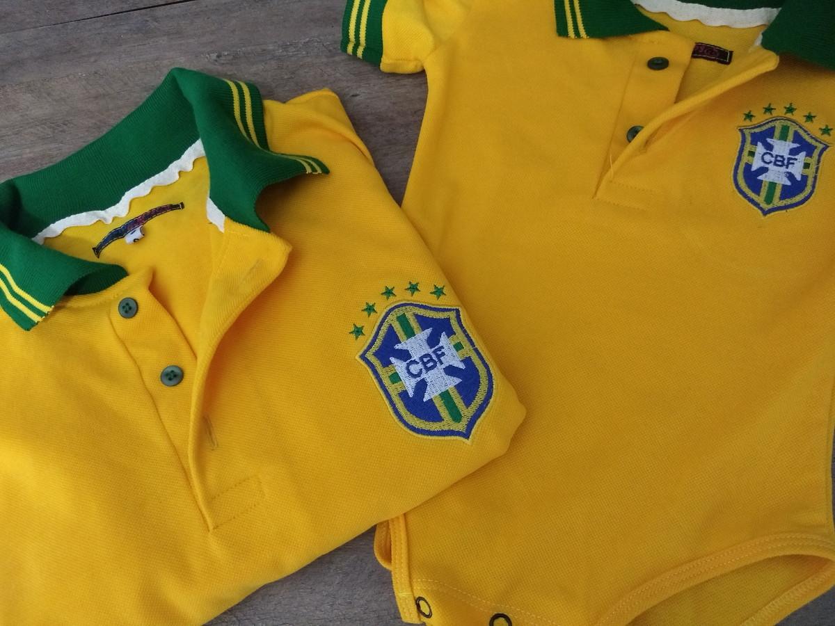 4f10ddbc309fa Camisa Polo Torcedores Filho ou Filha - Brasil no Elo7