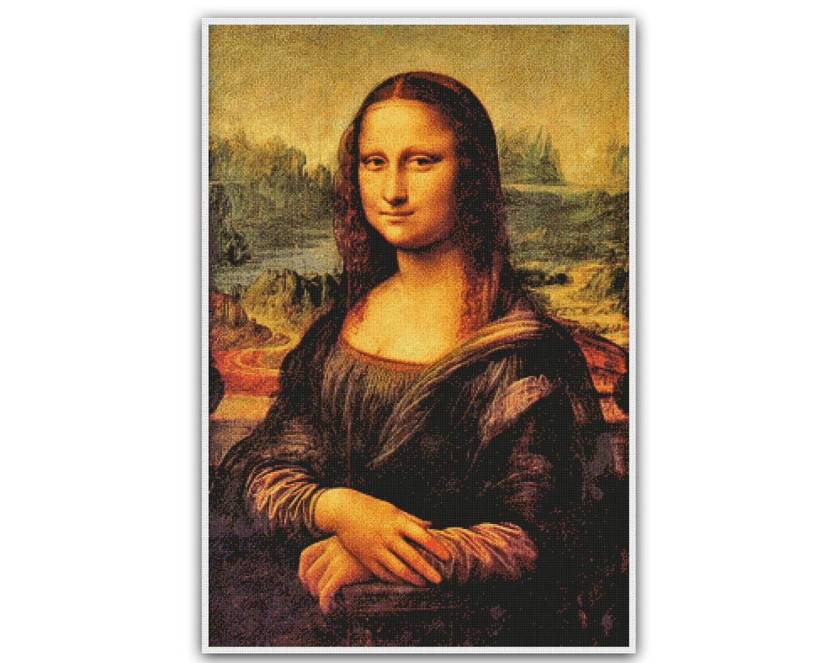 Mona Lisa - Gráfico Ponto Cruz No Elo7