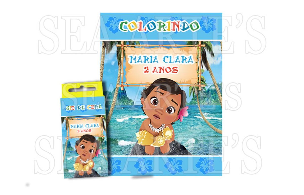 Kit Colorir Moana Baby Disney No Elo7 Sea Artes Bf8854