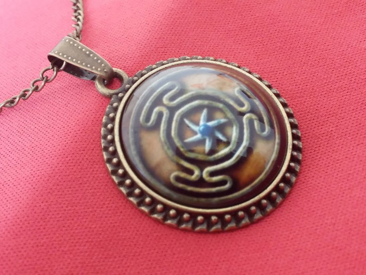 image wiccan necklace pendant products lunar hecate goddess jewelry pagan