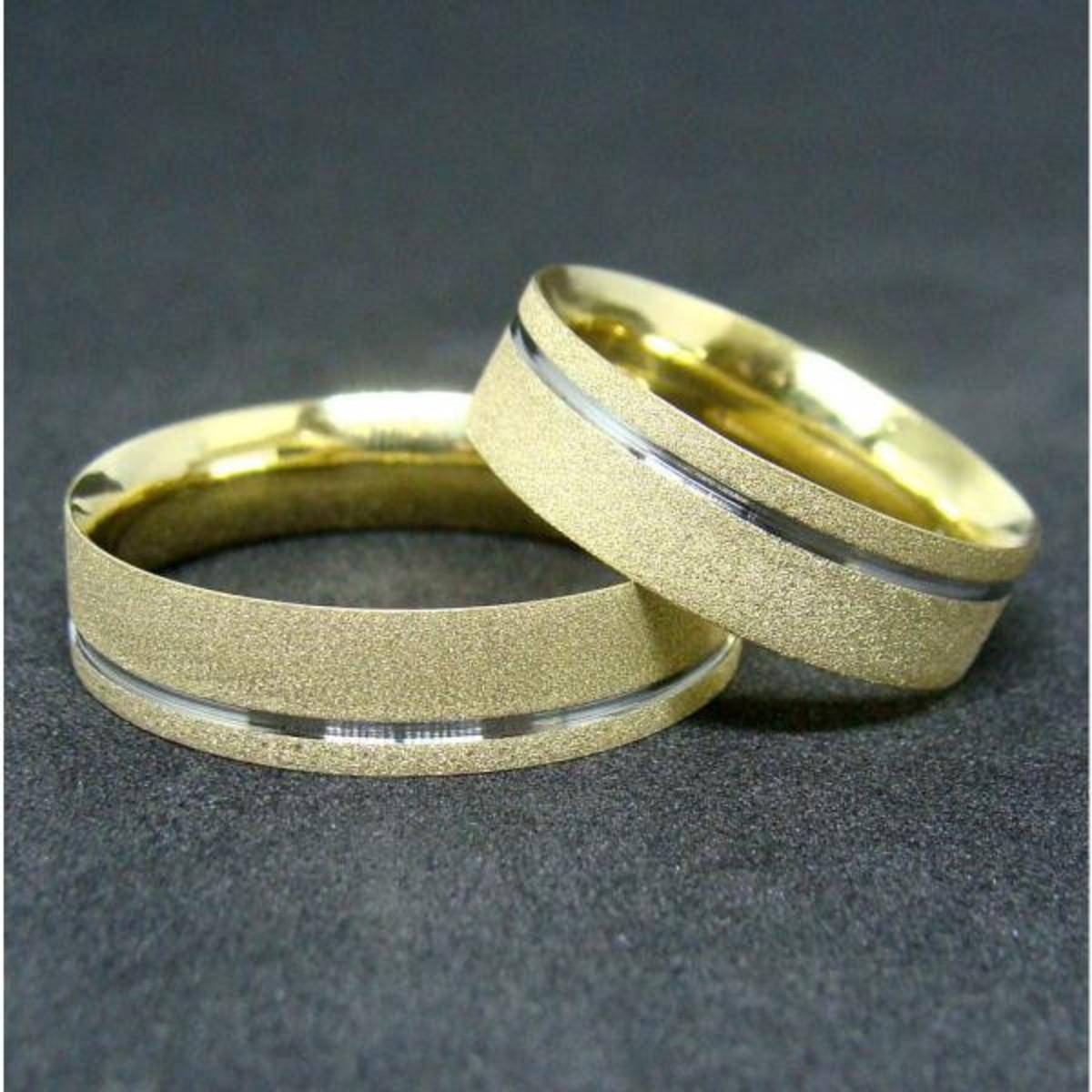 Aliança de Ouro 18k Diamantada Filete em Ouro Branco - (Par) no Elo7 ... b3b74e5c69