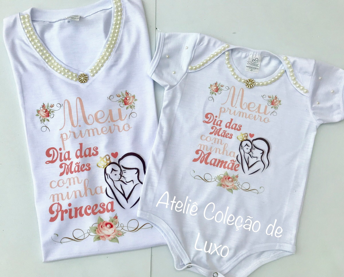4fbbd05c4982a2 Camiseta dia das mães / mãe e filha
