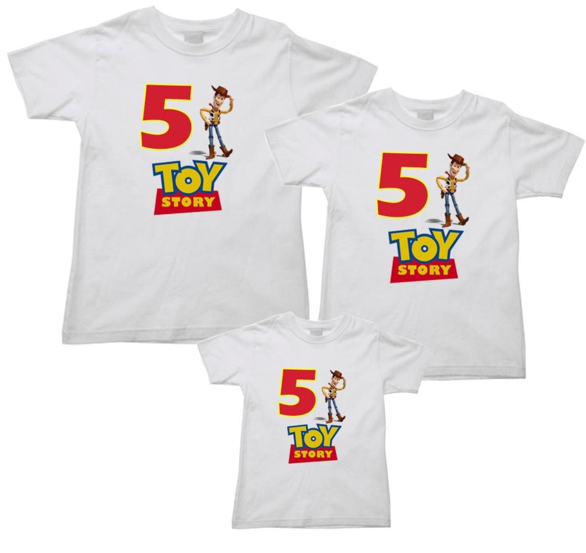 Kit 3 Camiseta Aniversário Toy Story no Elo7  456bd1ce49180
