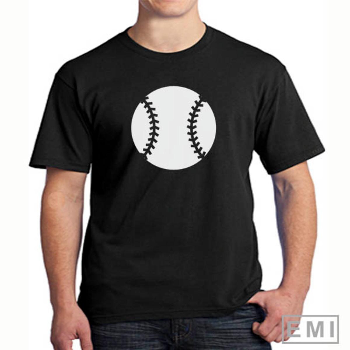 32fe334e279e6 Camiseta bola baseball no Elo7
