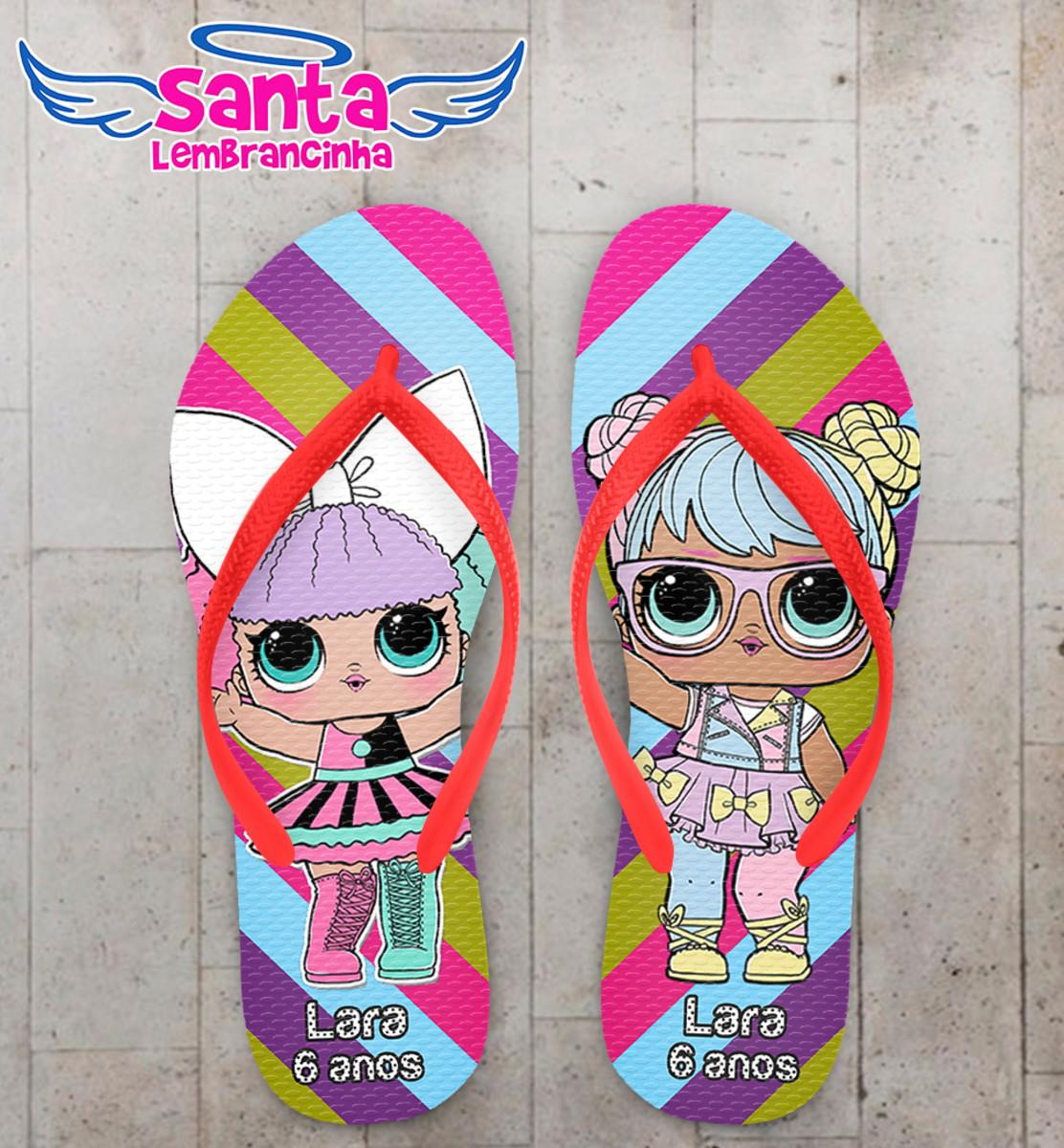 5f8a4dc62 Chinelo Infantil LOL Dolls no Elo7