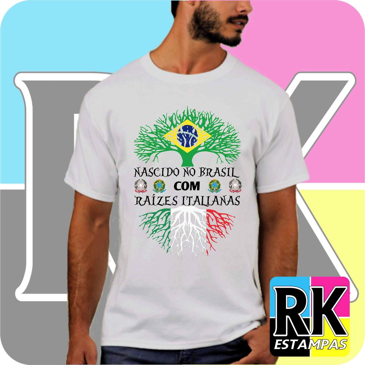 Camiseta Raízes - Itália no Elo7  9eef55557d820