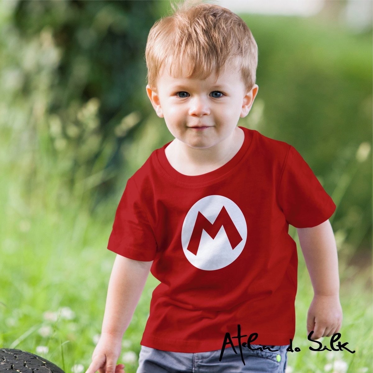 3cad86809 Camiseta Infantil Super Mario Bros no Elo7