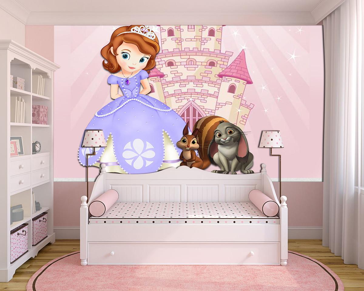 Papel De Parede 3d Princesa Sofia 0016 Adesivo De Parede No Elo7