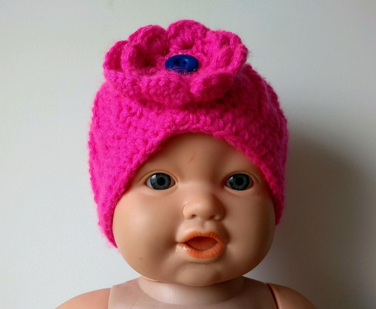 Gorro  Touca Infantil (6 m a 2 anos) Feminino Crochê no Elo7  58c908b8215