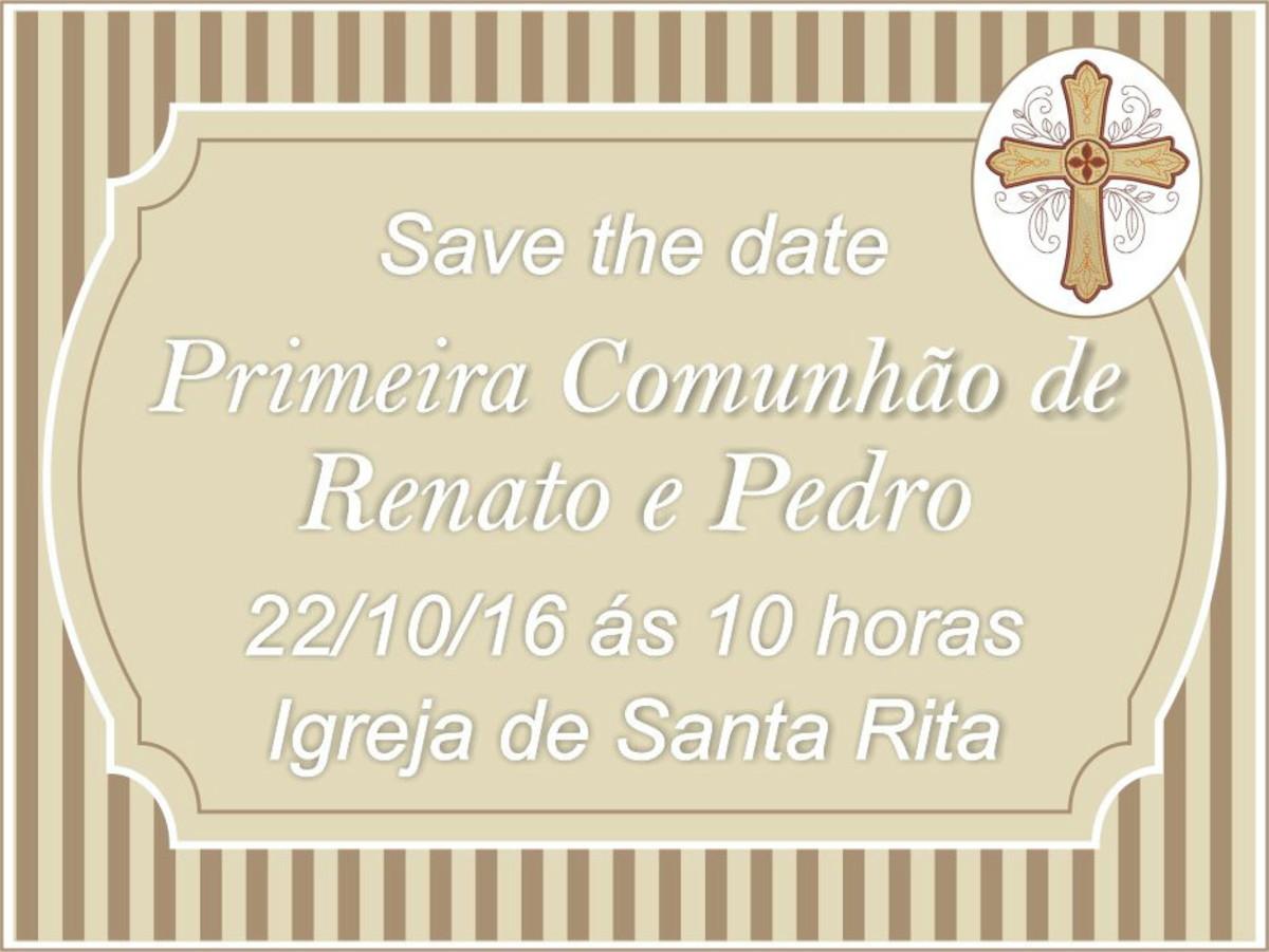 Convite Virtual Primeira Eucaristia Modelos Variados
