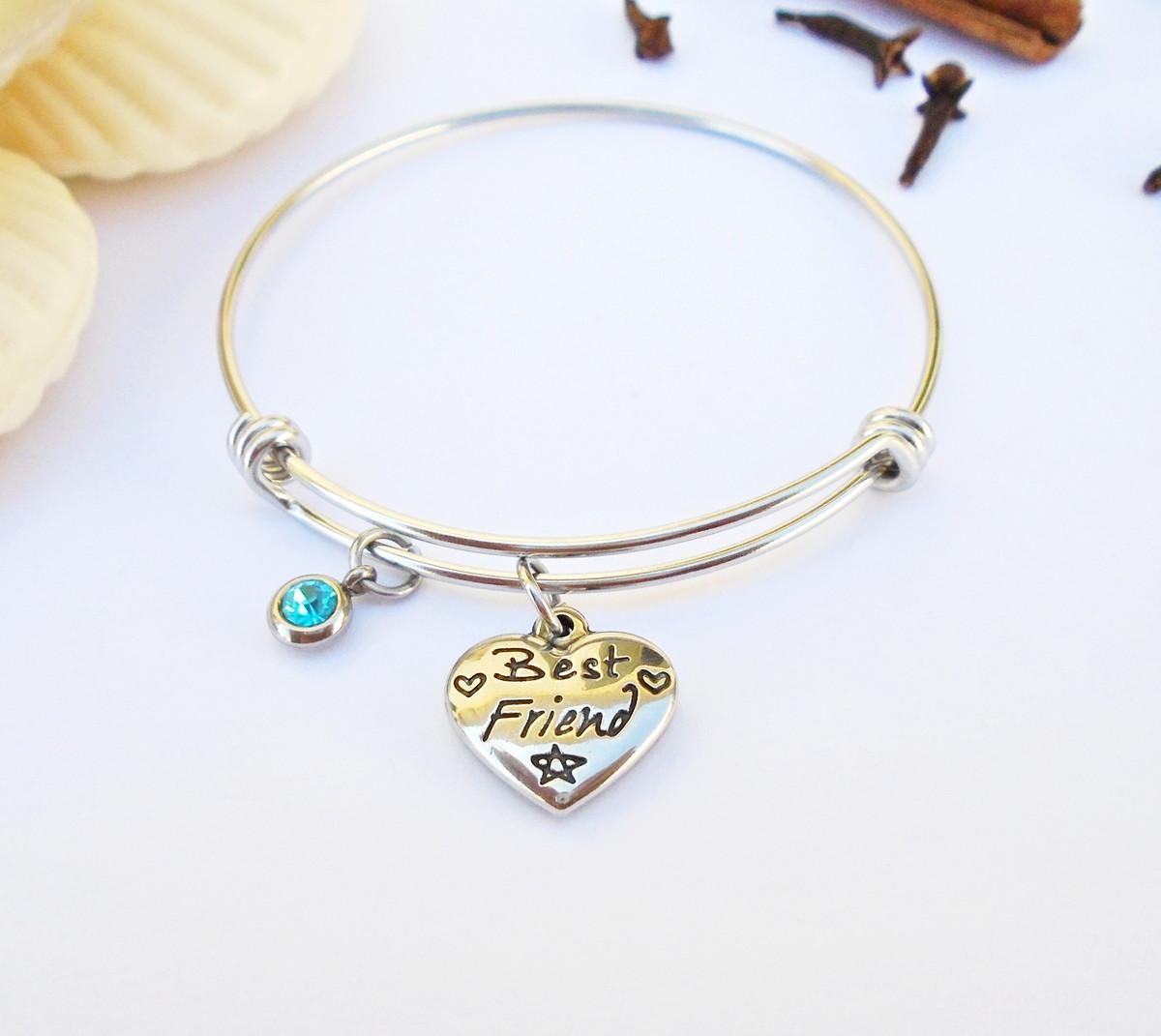 c3d069a667210 Bracelete ARGOLA de Aço Inox 360L BEST FRIENDS Strass Azul no Elo7 ...
